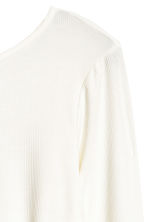 Ribbed jersey top - Natural white - Ladies | H&M CN 2